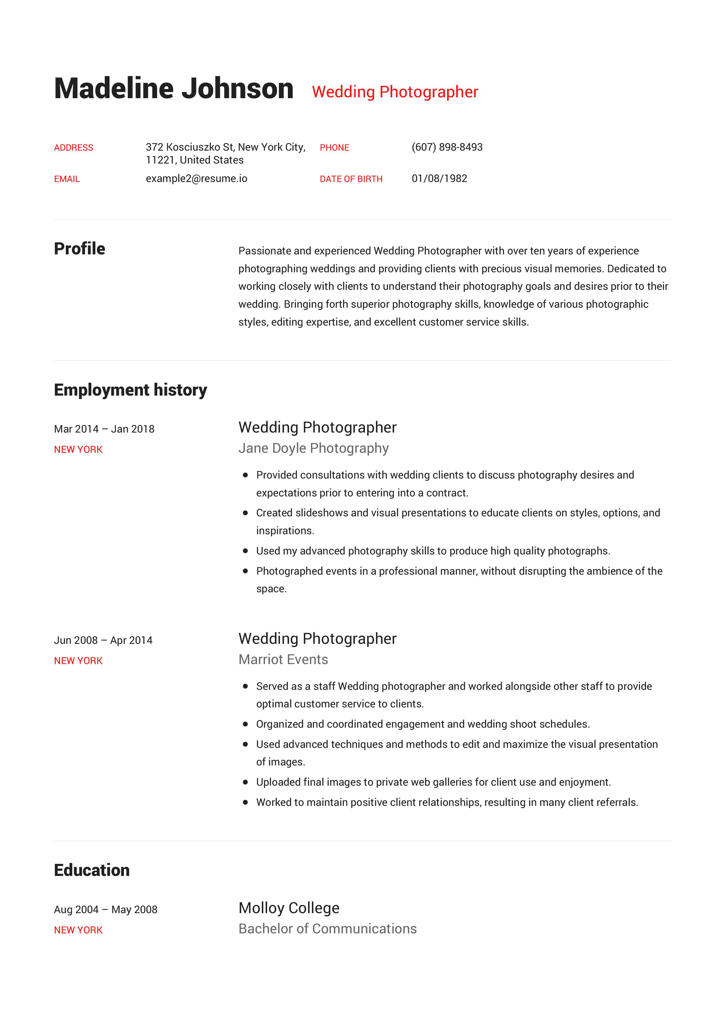 engels cv voorbeeld 2018 24 1   Engels CV maken